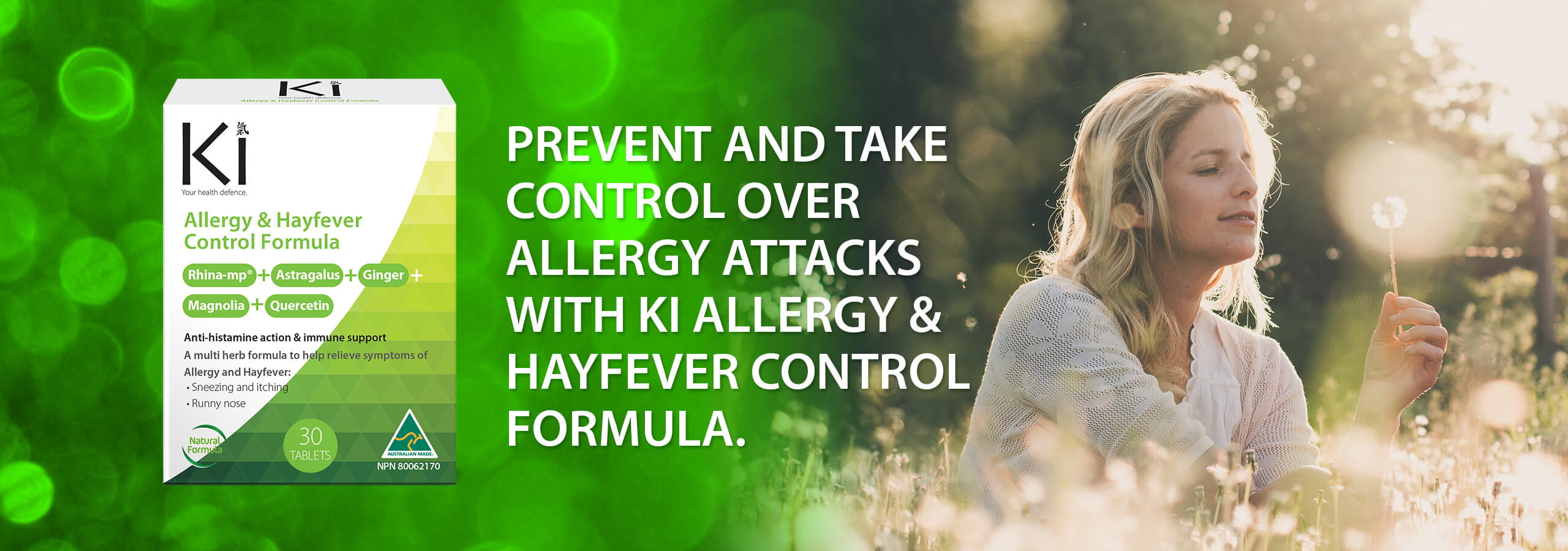 Ki Allergy | Prevent and Take Control over allergy attacks with Ki Allergy & Hayfever Control Formula